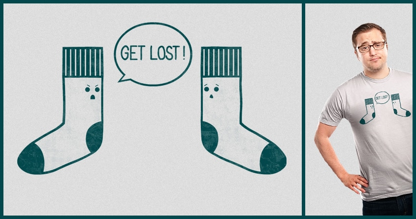 Angry Sock by TeoZ on Threadless