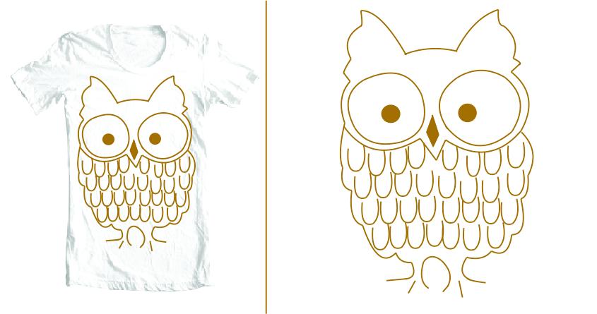 the owl by Samira Moraes on Threadless