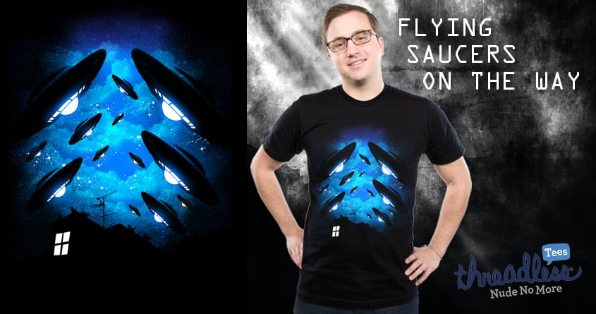 flying saucers on the way by chingmoncheng on Threadless
