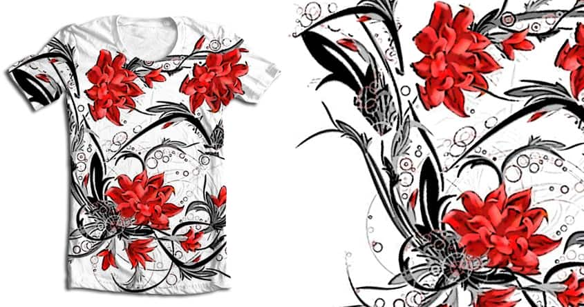 Red Flowers by XavierQ on Threadless