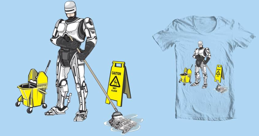 Robo-mop by TheDesktopZombie on Threadless
