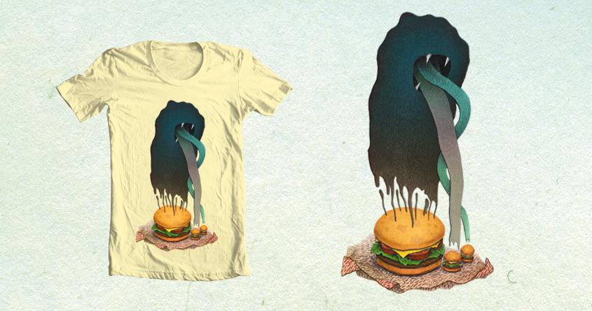 Happy Hamburger Shirt by thanks_but_no on Threadless
