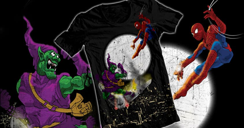Spider-Man Battle with Green Goblin by adhitya on Threadless