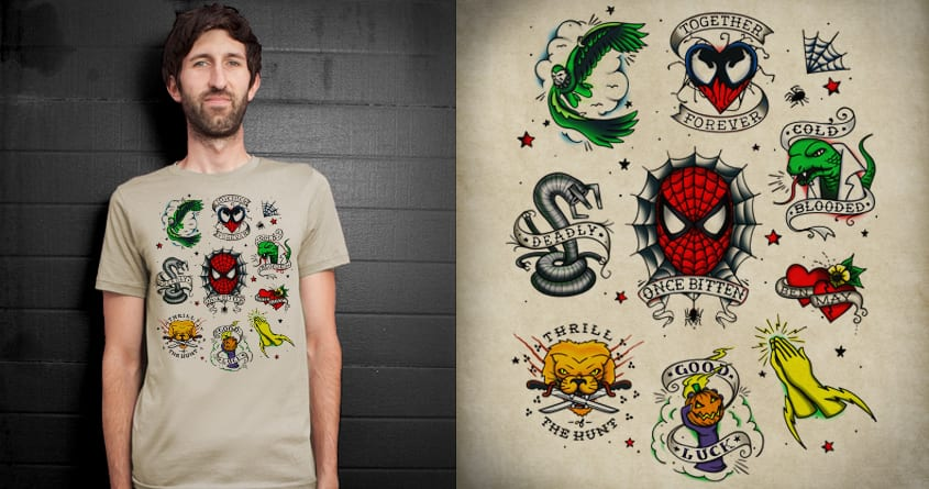 Spidey Tattoo Flash by everything on Threadless