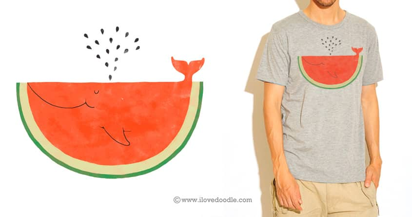 WhaleMelon by ilovedoodle on Threadless
