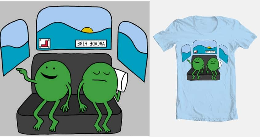 I LIKE THE PEAS IN THE BACKSEAT by jards_mac_flards on Threadless