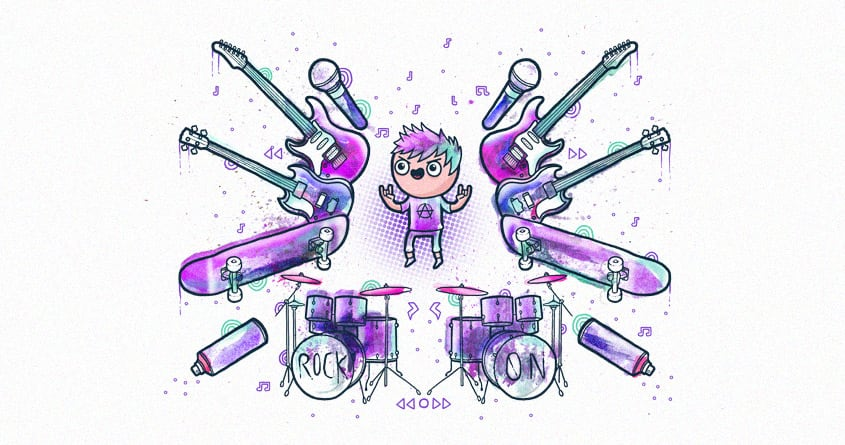 Rock On by randyotter3000 on Threadless