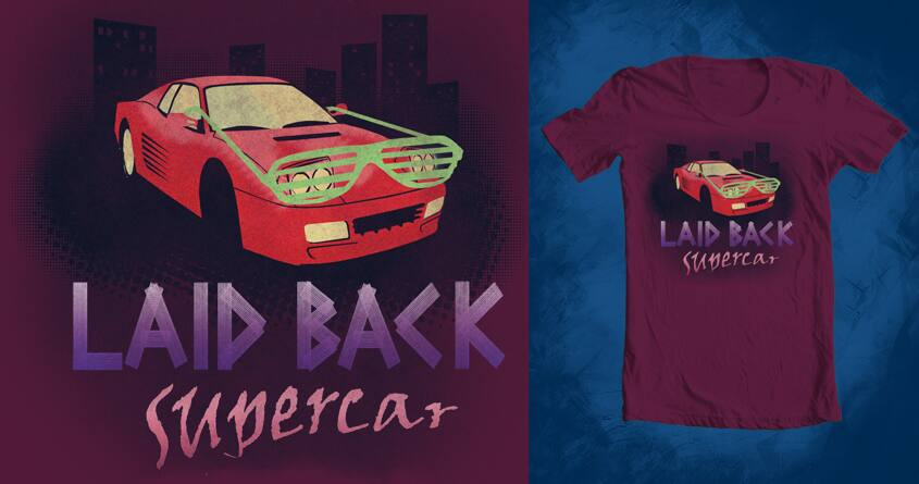 Laid Back Supercar by Vak on Threadless