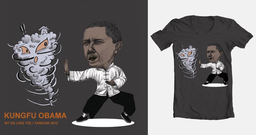 KungFu Obama by tamaow on Threadless