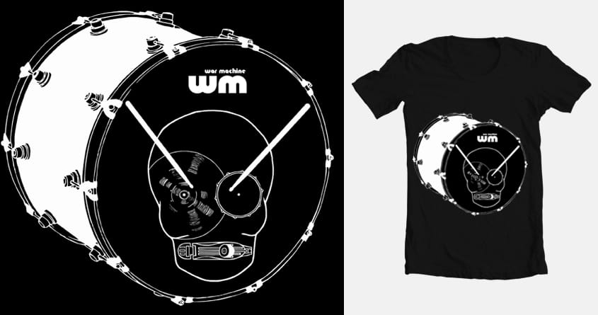 war machine//drummers only by drums_beast on Threadless