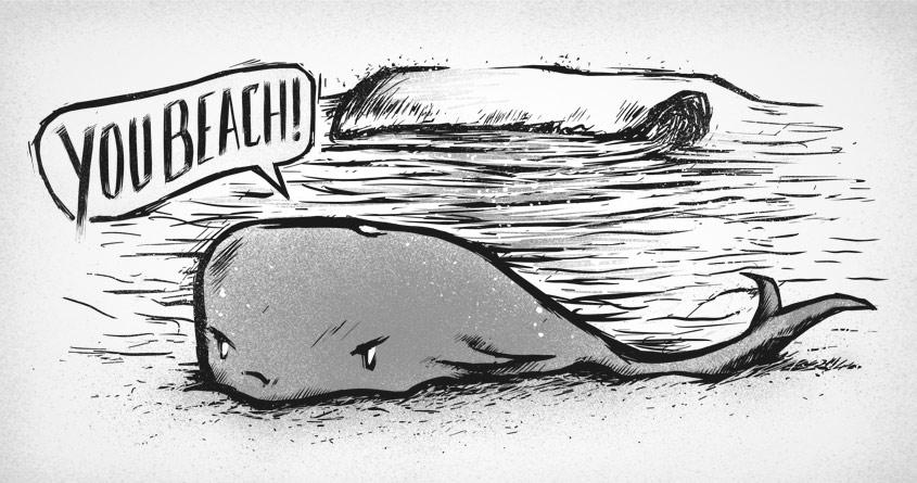 You beach! by Raulio on Threadless