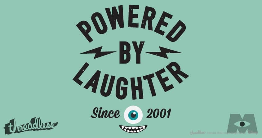 Powered By Laughter by lunchboxbrain on Threadless