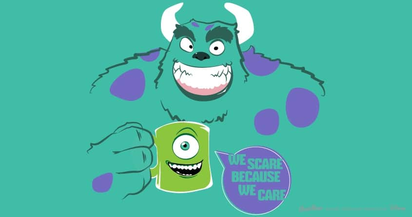 we scare because we care. by JoeTouchdown on Threadless