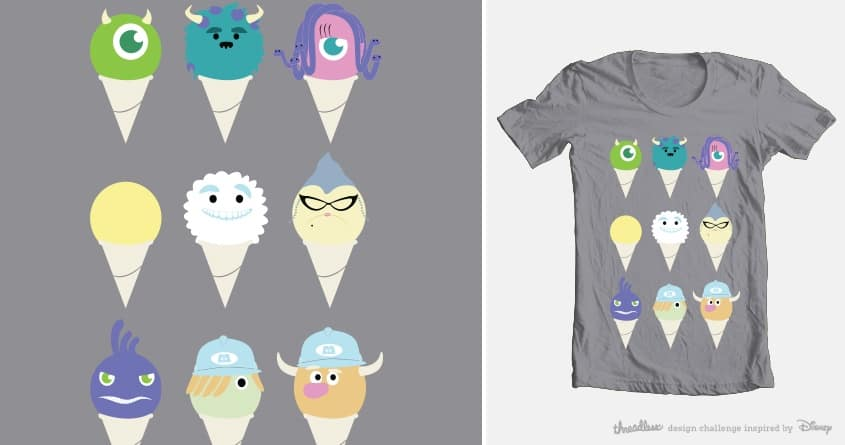 We all scream for ice cre- snow cones! by amidot on Threadless