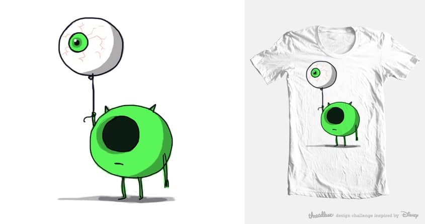 mike the monster by sir manish. on Threadless