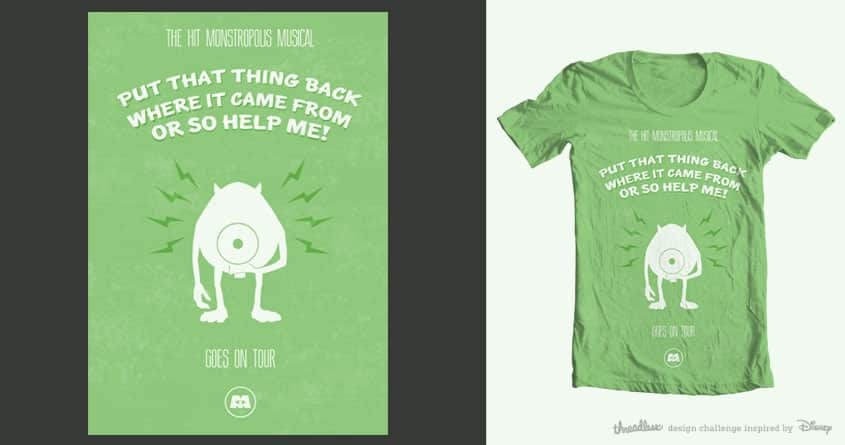 The hit Monstropolis Musical! by mattydrewit on Threadless