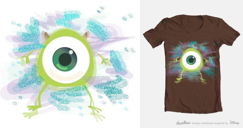 Mike with Sulley colors by eingelmo on Threadless