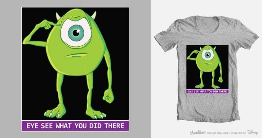 EYE see what you did there... by Lars Weisenberger and starke on Threadless