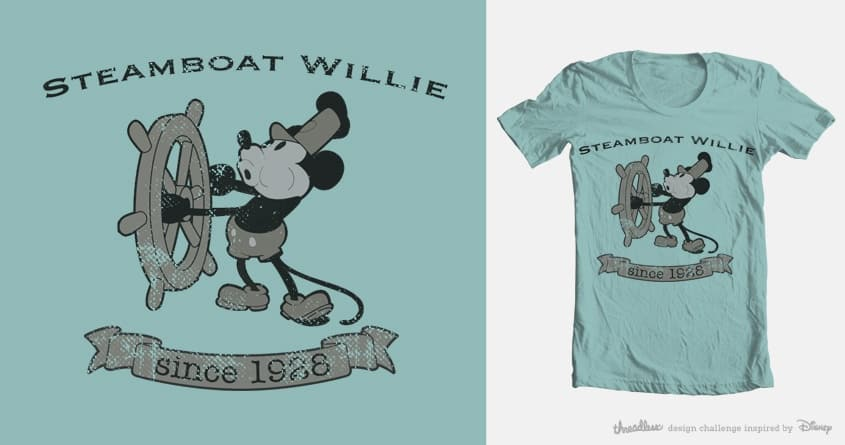 Steamboat Willie by sampoli29 on Threadless