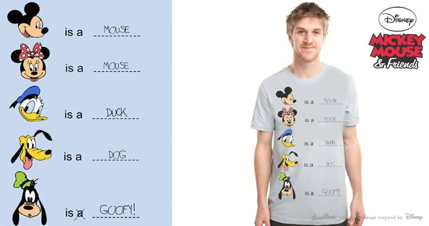 Goofy is Goofy! by ArTrOcItY on Threadless