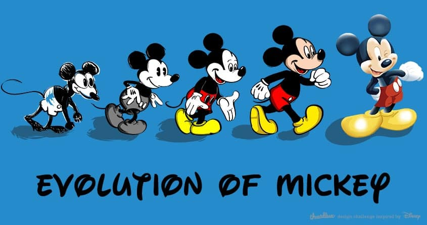 Evolution of Mickey by Kellabell9 on Threadless