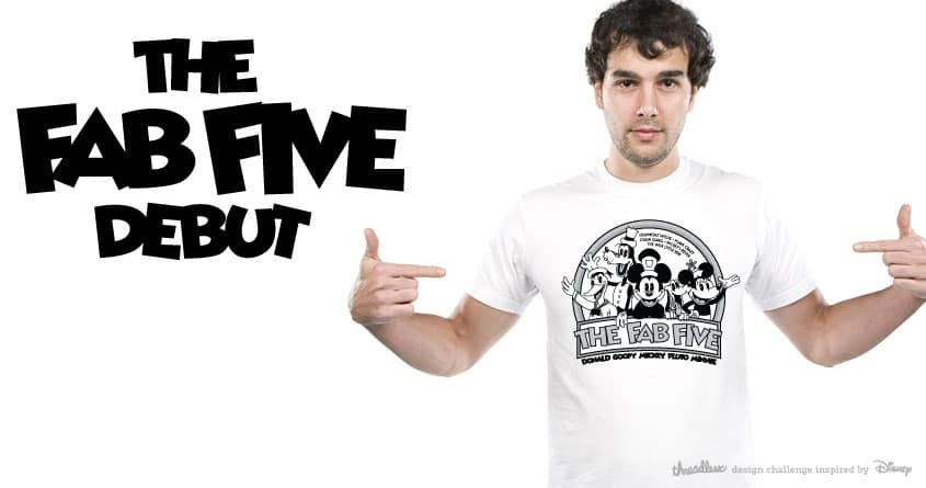 The Fab Five Debut by bernabebruin5 on Threadless
