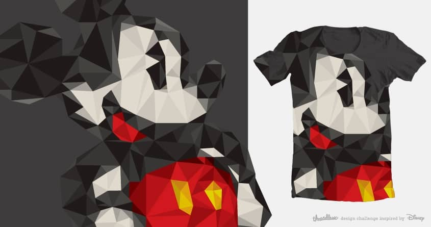 Facet Mickey by drewwilson on Threadless