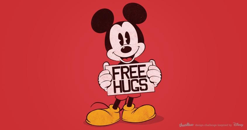 Mickey - Free hugs by digitalcarbine on Threadless