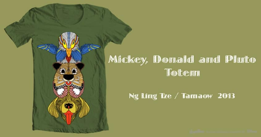 Mickey, Donald and  Pluto Totem by tamaow on Threadless