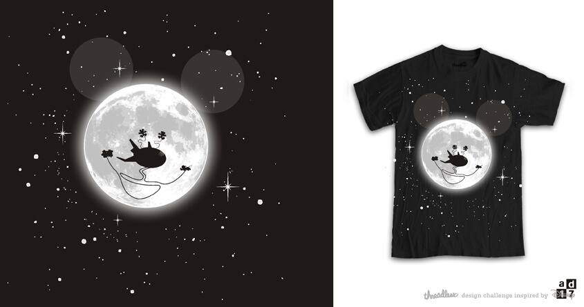 mickey moon and friends by a.d.17 on Threadless
