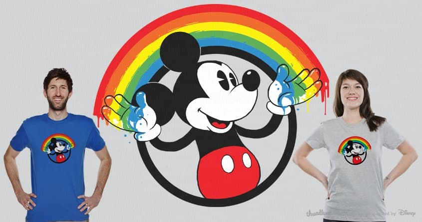 Mickey Rainbow by messing on Threadless