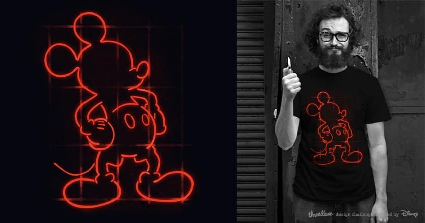 Mickey Neon by barmalisiRTB and messing on Threadless