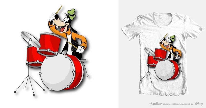 Goofy, the drummer by bblluueekk on Threadless