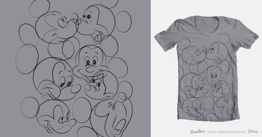 Mickey Expressions  by artbytara on Threadless