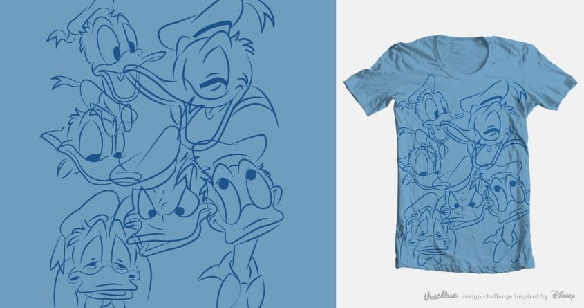 Donald Expressions by artbytara on Threadless