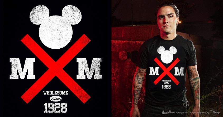 Straight Edge Mickey by Joe Conde on Threadless