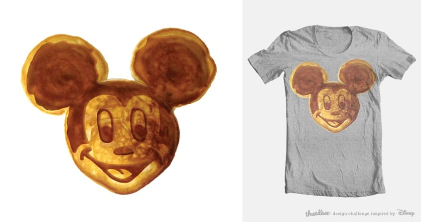 Mickey Breakfast by hisartwork on Threadless