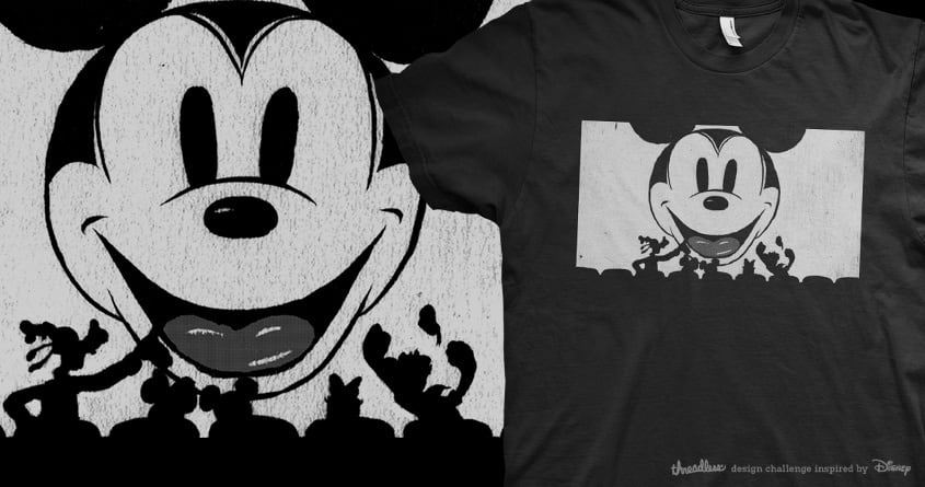 Starring Mickey by Carol Martins and hafaell on Threadless