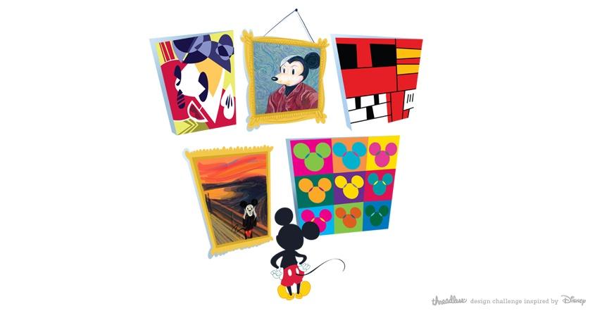 Mickey Gets Art Schooled by spicysteweddemon on Threadless