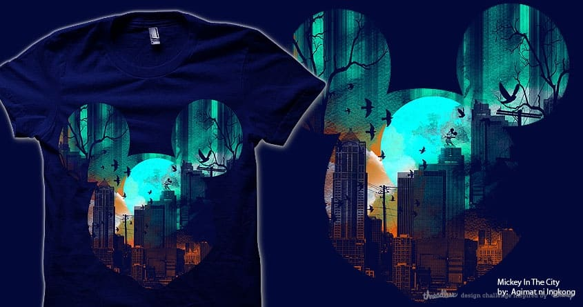 Mickey In The City by Agimat ni Ingkong on Threadless