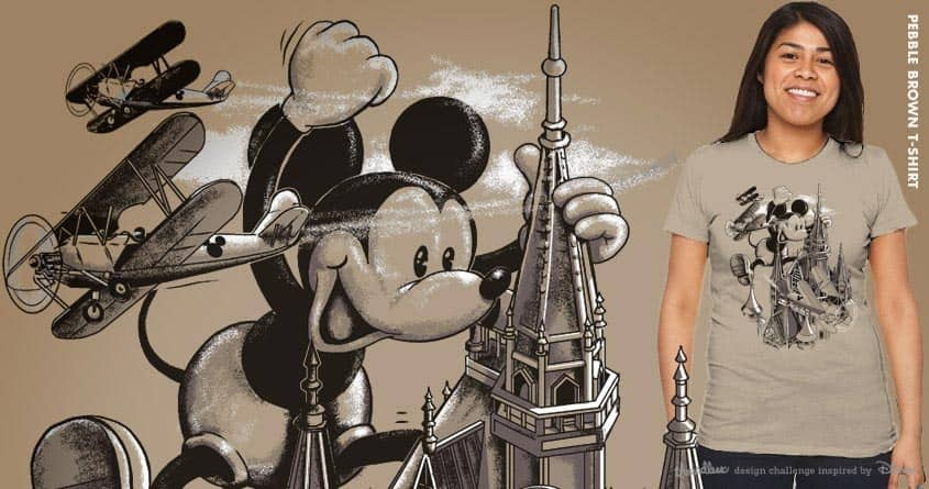 GIANT MICKEY GOES TO THE PARK by yoshi andrian on Threadless