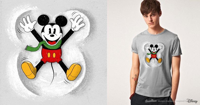 Snow Mickey by speakerine on Threadless