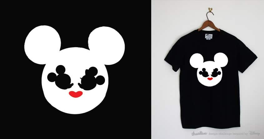 mickey and minnie mouse by radiomode on Threadless