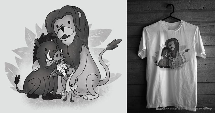 Lion King circa 1928 by PeculiarTiffany on Threadless