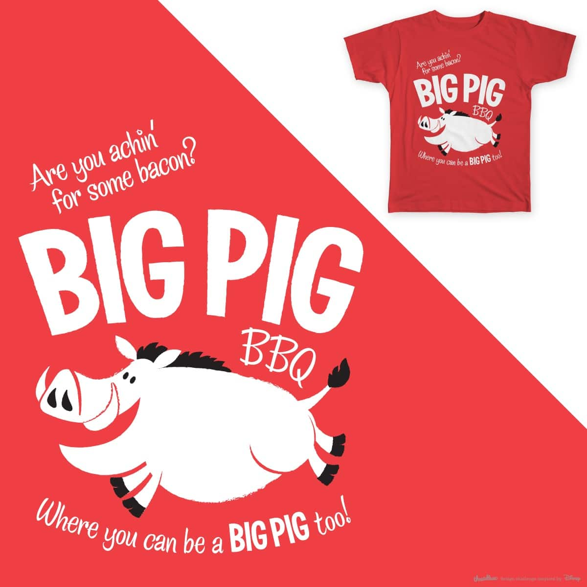 Achin' For Some Bacon by arutzen on Threadless