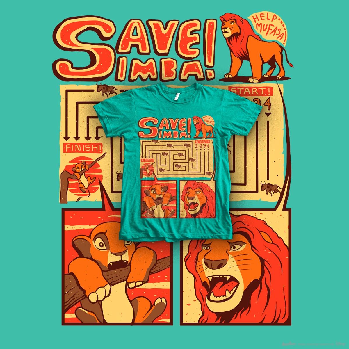 Save Simba!! by Aji ontowiryo on Threadless