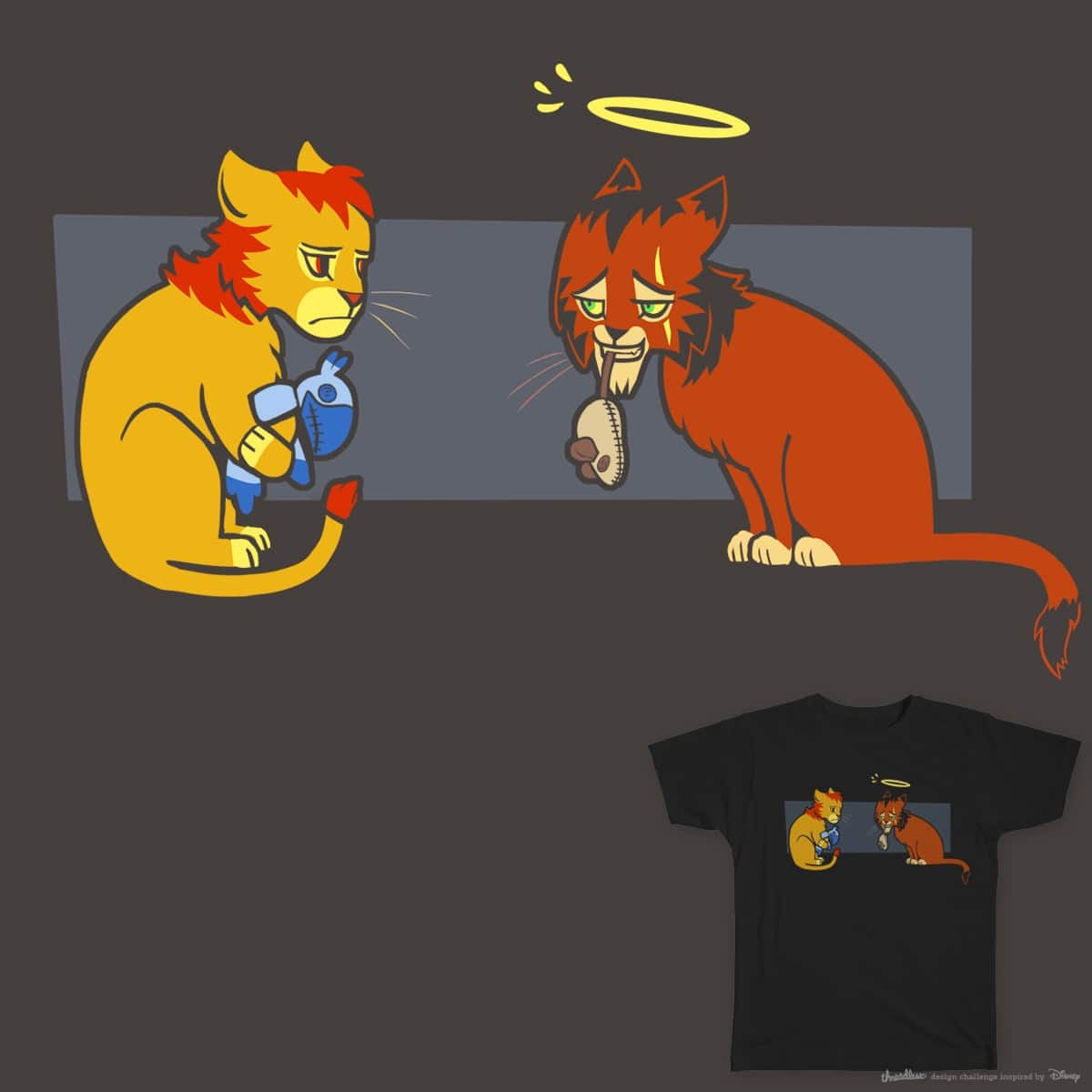Lions are just big cats by mesaur on Threadless