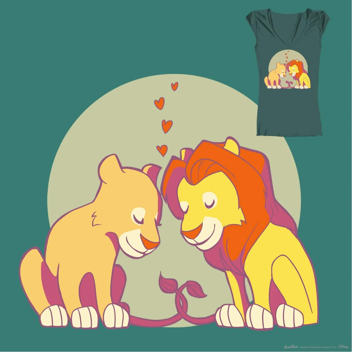 Lions in Love by mesaur on Threadless