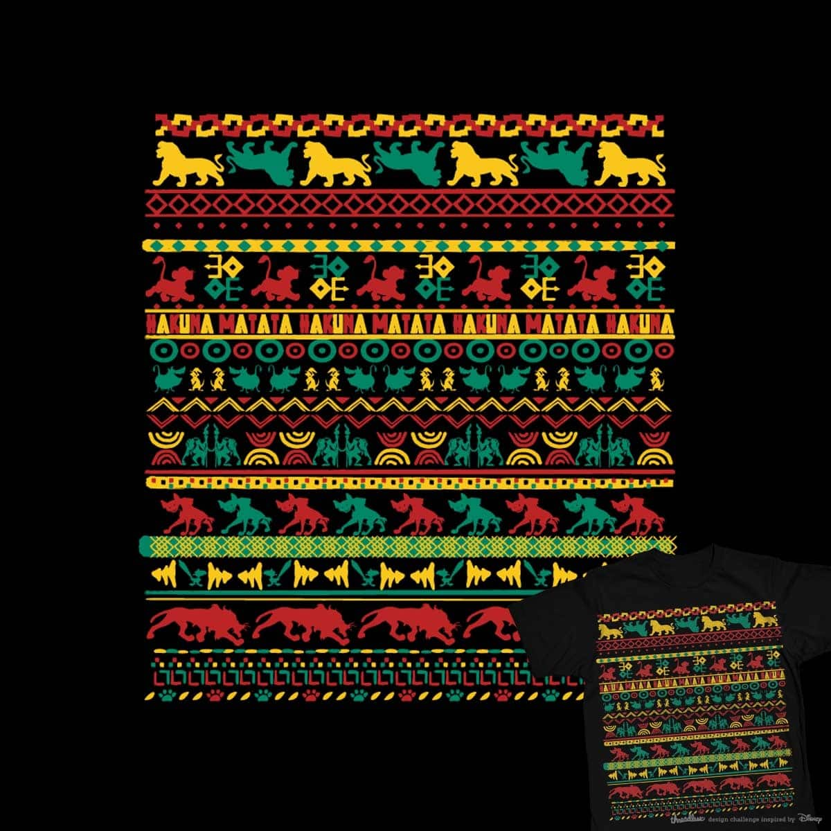 Hakuna Matata Pattern by radiomode on Threadless