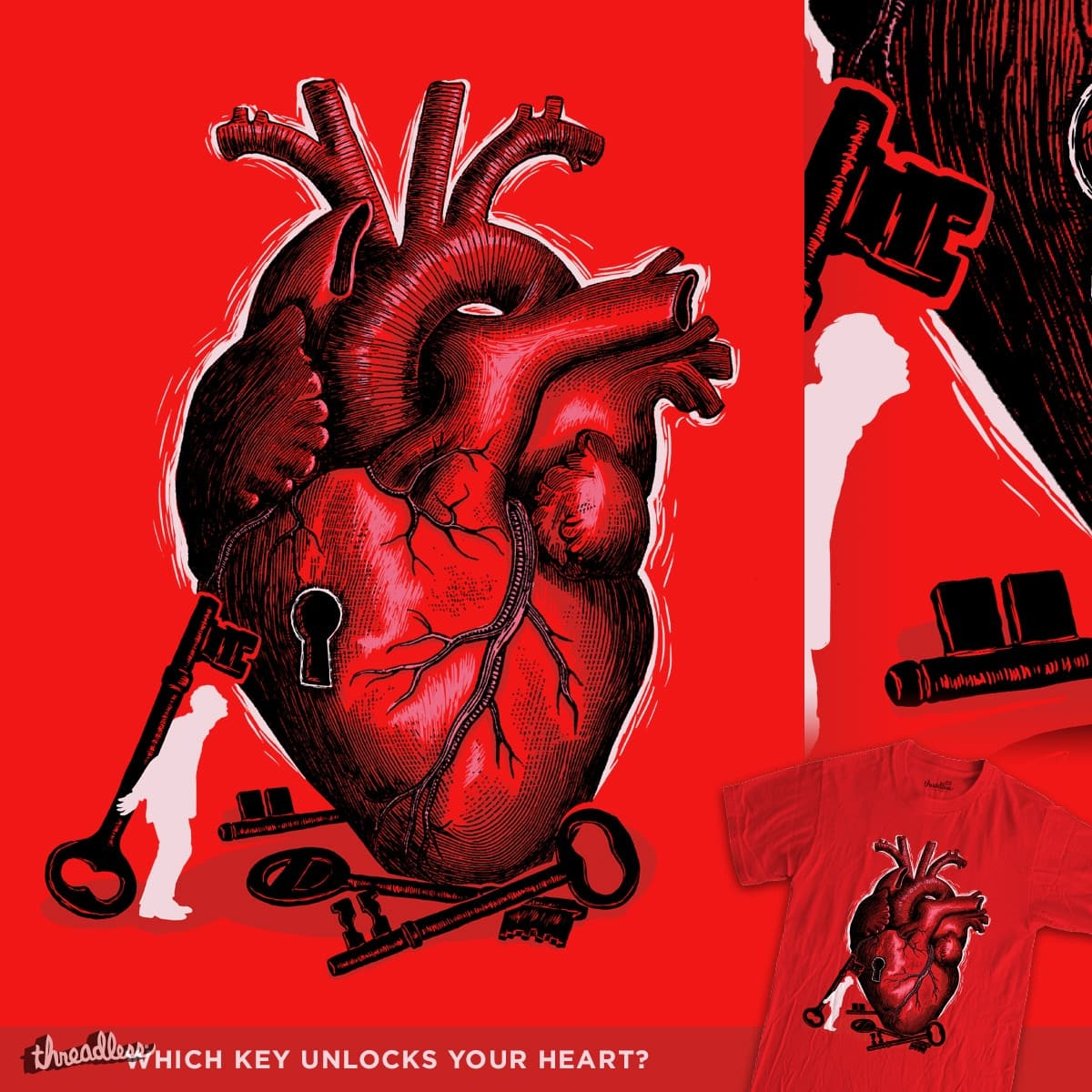 Which Key Unlocks Your Heart? by WanderingBert on Threadless
